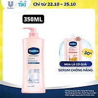 Sữa Dưỡng Thể 350Ml Vaseline Dưỡng Ẩm Sáng Da Instant Radiance Vi Chất Phản Quang Giúp Da Sáng Tức Thì Gấp 4 Lần