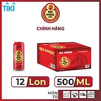 Thùng 12 Lon Bia SAN MIGUEL Red Horse 500 ml