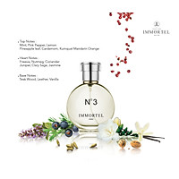Nước hoa nam IMMORTEL PARIS No3 Eau De Parfum Dung tích 60ml - Hương thơm ấm áp , lôi cuốn và bí ẩn