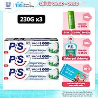 Combo 3 Kem đánh răng P/S Bảo Vệ 123 Baking Soda - Hương Thảo 230g giúp làm trắng răng tự nhiên