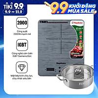 Bếp Từ cảm ứng Nagakawa NAG0710 (2000W) - Kèm Nồi Lẩu - Hàng Chính Hãng