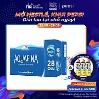 Thùng 28 Chai Nước Uống Aquafina (500ml / Chai)