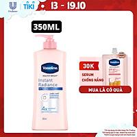 Sữa Dưỡng Thể Vaseline Instant Radiance Sáng Da Gấp 4 Lần Với Vi Chất Phản Quang Cho Da Sáng Khỏe Mịn Màng 350ml
