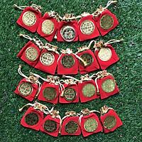 Combo 20 xu con chuột ngậm ngọc kim sa Hong kong biểu tượng sự giàu có tặng túi nhung đỏ sang trọng - TMT COLLECTION - MS339