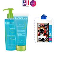 Gel rửa mặt cho da hỗn hợp và da dầu Bioderma Sebium Gel Moussant 200ml/100ml TẶNGmặt nạ Sexylook /bông tẩy trang Jomi (Nhập khẩu)