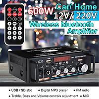 600W Digital HiFi bluetooth Audio Stereo Amplifier Amp USB/FM/SD/Mic Home & Car-EU Plug