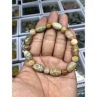 Vòng đeo tay, lắc tay hoa ưu đàm phong thủy đá san hô hóa thạch