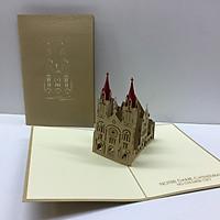 Nhà thờ Đức Bà ( HCM ) - Thiệp 3D size 12x18