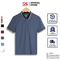 Áo Thun Nam Polo Ngắn Tay 5S (APC21015) Chất Liêu 100% Coolmax Phối Viền Năng Động, Trẻ Trung, Nam Tính