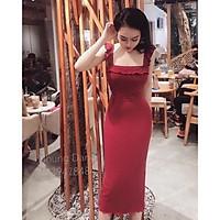 Đầm body váy body 2 dây cánh tiên xẻ sau siêu tôn dáng điệu đà