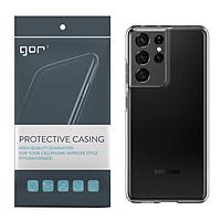 Ốp Lưng Silicon TPU trong suốt GOR cho Samsung Galaxy S21 / S21 Plus / S21 Ultra - Hàng Nhập Khẩu