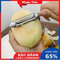 Dụng cụ cắt,gọt,bào rau củ inox 304 4in1 không rỉ sáng bóng, bền đẹp kèm găng tay rửa chén BaoAn - Hàng chính hãng
