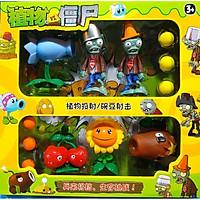 Bộ đồ chơi xếp hình zombie hoa quả nổi giận 6 bóng (nhiều mẫu giao ngẫu nhiên)