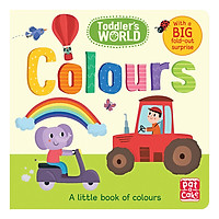 Toddler's World: Colours: A little board book of colours with a fold-out surprise - Toddler's World