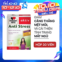 Viên uống hỗ trợ ngủ ngon, giảm căng thẳng, mệt mỏi Doppelherz Aktiv Anti Stress (Hộp 30 viên)