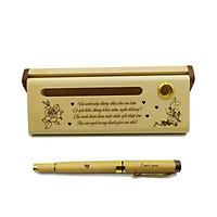 Bộ bút gỗ cao cấp tặng bạn gái - mẫu 01 (Kèm hộp đựng sang trọng)