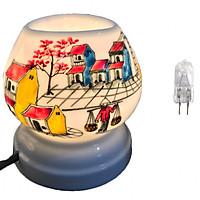 Combo Đèn xông tinh dầu điện tam giác TG08 và 1 bóng đèn