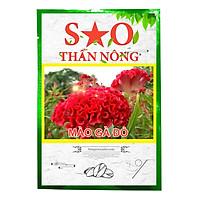 Hạt giống hoa mào gà Sao Thần Nông màu đỏ - gói 100 hạt hoa to đẹp bền màu thời gian sinh trưởng nhanh khánh sâu bệnh tỉ lệ nảy mầm cao