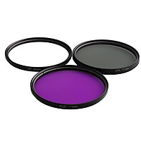 3 Pieces UV / CPL / FLD 77mm Professional Glass Filter Kit Camera