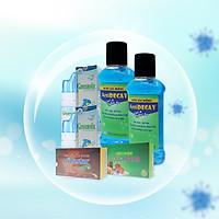 Combo 4 Kháng khuẩn bảo vệ toàn diện - Xịt mũi GreenSix, nước súc miệng Antidecay, Vitamin C & Rutin - Pytastar, viên ngậm ho Coughstar