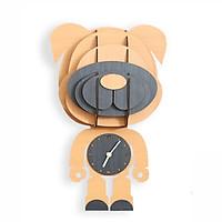 Đồng hồ xếp hình con chó màu vàng