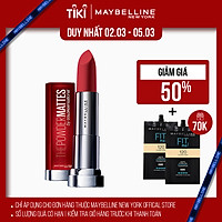 Son Lì Nhẹ Môi Dưỡng Môi Maybelline New York Color Sensational The Powder Mattes Lipstick 3.9g