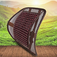 tựa lưng lưới đan hạt gỗ cho ghế ô tô và văn phòng chống mỏi lưng