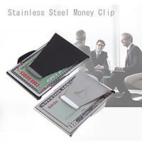 Stainless Steel Money Cash Clip Clamp Credit Card Holder Pocket Slim Wallet