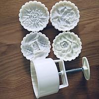 Khuôn bánh trung thu 4 mặt tròn đôi cá chép và hoa dùng làm bánh trung thu, bánh dẻo đẹp mắt, chất lượng cao