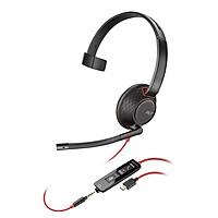 Tai nghe Plantronics C5210 USB-C- Một bên tai có thêm cổng 3.5 mm- hàng chính hãng