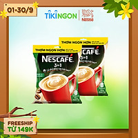 [Chỉ giao HN] Combo 2 bịch cà phê rang xay hòa tan Nescafé 3in1 đậm vị cà phê (Bịch 46 gói x 17g)