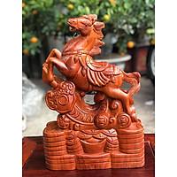Tượng ngựa gỗ phong thủy để bàn