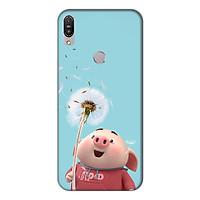 Ốp lưng điện thoại Asus Zenfone Max Pro M1 hình Heo Con và Hoa Bồ Công Anh