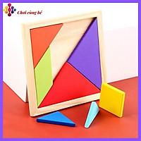 Đồ chơi xếp hình Tangram bằng gỗ phát triển trí tuệ cho bé