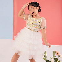 Váy đầm công chúa cho bé gái cao cấp Econice V16-18, size trẻ em 5-10 tuổi