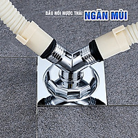 Đầu nối thoát nước máy giặt, thoát nước thải kiêm chống mùi hôi, ngăn côn trùng trào ngược lắp thoát sàn, ống PVC, bộ 2 chạc MIHOCO 3112