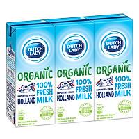 Sữa Tươi Tiệt Trùng Dutch Lady Organic (3 x 200ml)