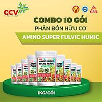 Combo 10 gói Phân Bón Humic Amino  85 vi lượng (1kg/gói) - sản phẩm của Công Ty Phân Bón Con Cò Vàng