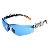 Frameless Crystal Sunglasses PC Sun Glasses Sport Party Supplies Blue Lens