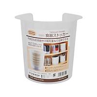 Bộ 4 hộp đựng bát đĩa cất gọn nhật bản - Tặng túi zip 3 kẹo mật ong Senjaku