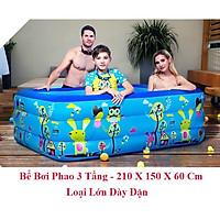 hồ bơi phao trẻ em,Bể bơi phao trong nhà, hình chữ nhật kích thước 210cm