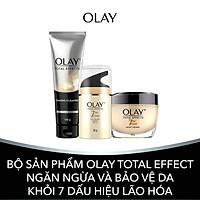 Bộ Sản Phẩm Olay Total Effect Ngăn Ngừa Và Bảo Vệ Da Khỏi 7 Dấu Hiệu Lão Hóa (Kem dưỡng ban ngày UV, Kem dưỡng ban đêm, Sữa rửa mặt tạo bọt)