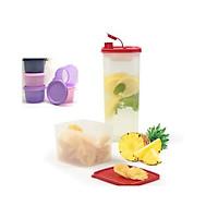 Bộ Bình nước Tasty Set Tupperware Tặng Kèm 01 Hộp Bảo Quản Snack Cup (Màu ngẫu nhiên)