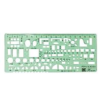 Drawing Template Multifunctional Interior Furniture Design Templates Chemical Instrument Tool Ruler