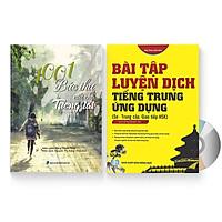 Combo 2 sách: 1001 Bức thư viết cho tương lai + Bài tập luyện dịch tiếng Trung Ứng Dụng (Sơ – Trung cấp, giao tiếp HSK) (Trung – Pinyin – Việt, có đáp án) + DVD quà tặng