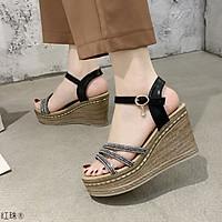 Giày Sandal ĐẾ XUỒNG 3 quai dây chữ đan chéo 9p Kèm  Mặt Nạ (Mã 2313)