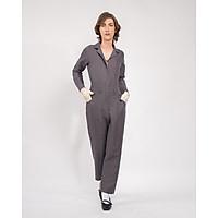 Jumpsuit Nữ Unisex_ Yvette LIBBY N'guyen Paris_VOYAGER_Màu Xám (Volcanic Glass), Vải lanh cao cấp viền cotton lụa Ý