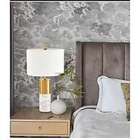 Đèn bàn - đèn ngủ Châu Âu trang trí phòng khách - phòng ngủ hiện đại - tặng bóng led 3W vàng MT572WH