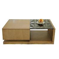 Bàn trà sofa mặt kính cường lực cho nội thất phòng khách (Bàn trà Denver PU20-bmd)
