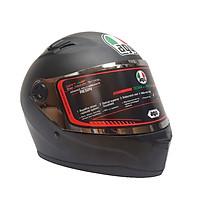 Mũ Bảo Hiểm Full Face AGU đen trơn - Tặng túi đựng nón thương hiệu AGU
